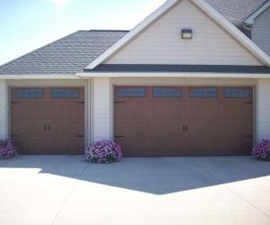 8300 Golden Oak Sonoma Arched Stockton Windows Resi Sectional